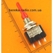Тумблер MTS-103-E1 (ON-OFF-ON), 3pin, 3A/250VAC плоский
