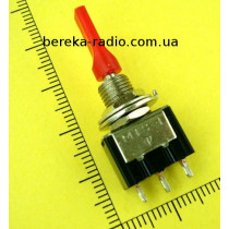 Тумблер MTS-123-E1 (ON)-OFF-(ON), 3pin, 3A/250VAC плоский