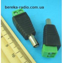 Штекер живлення DC 5.5x2.1mm з клемною колодкою (під гвинт)