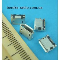 Гніздо micro USB B, (№ 2), 5 pin, 2 виводи, DIP