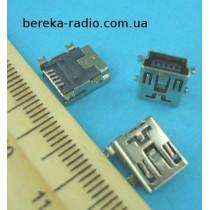 Гніздо mini USB 5 pin монтажне, тип SMT