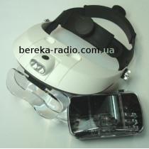 Окуляр на голову MG81001H 1X, 1.5X, 2.0X, 2.5X, 3.5X з підсвіткою