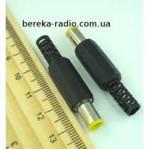 Штекер живлення DC 6.0x4.4x9mm + pin