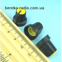 AG1 ручка чорна з жовтою вставкою