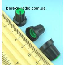 AG1 ручка чорна з зеленою вставкою