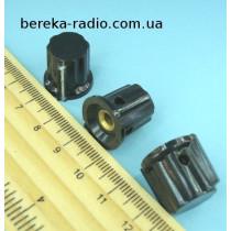 K18-01 ручка чорна карболітова з вказівником та фланцем