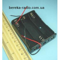 Корпус для акумулятора 3 х 18650 з проводами