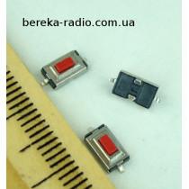 Тактова кнопка SMD 2pin 6x3x2.5mm, шток 0.8mm /China
