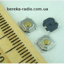 Тактова кнопка SMD 4pin 4x4x1.5mm, шток 0.5mm /China