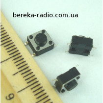 Тактова кнопка SMD 4pin 6x6x4.3mm, шток 0.8mm /China