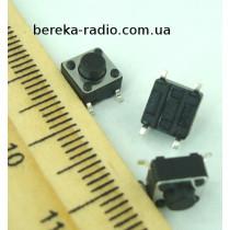 Тактова кнопка SMD 4pin 6x6x5.0mm, шток 1.5mm /China
