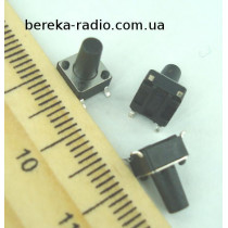 Тактова кнопка SMD 4pin 6x6x9.5mm, шток 6.0mm /China