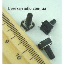 Тактова кнопка SMD 4pin 6x6x11.0mm, шток 7.5mm /China