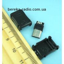Штекер micro USB (Samsung), під шнур, пластик