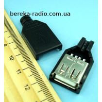 Гніздо USB тип A, під шнур