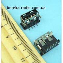 Гніздо USB тип A (90*), монтажне (тип 2)