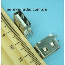 Гніздо USB тип A, монтажне, вертикальне