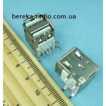 Гніздо USB тип A подвійне, монтажне, кутове