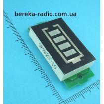 Індикатор заряду 4-х акумуляторів 13.2-16.8V, синій інд., 4-ри сегменти, XW228DKFR4