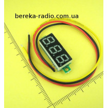 Вольтметр без корпусу 0.28`` DC 0-100V жовтий, 3-х цифр. інд.