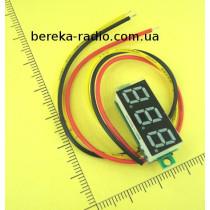 Вольтметр без корпусу 0.28`` DC 0-100V червоний, 3-х цифр. інд.