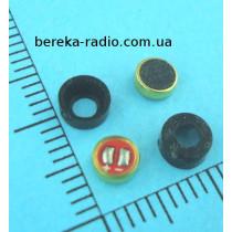 Мікрофон електретний FM4015 (4.0x1.5mm), 1.5-10V, -48...66dB, s/n-56dB, Imax=500uA, з резиновими вту