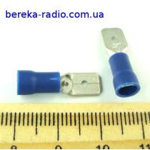 ST-030/B (клема штекер 6.3 x 0.8mm, 1.5-2.5mm2, синя)