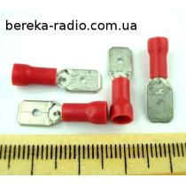ST-030/R (клема штекер 6.3x0.8mm, 0.5-1.0mm2, червона)