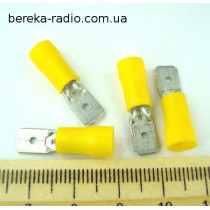ST-030/Y (клема штекер 6.3x0.8mm, 4.0-6.0mm2, жовта)