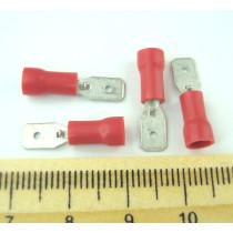ST-031/R (клема штекер 4.8x0.5mm, 0.5-1.0mm2, червона)