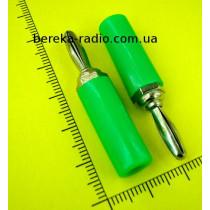 Штекер банан зелений VK10520 A G