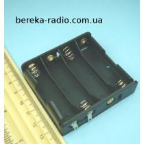 Корпус для батарей 4 х AA, 1 ряд з клемами (GNI 0051)