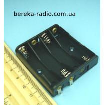Корпус для батарей 4 х AAA, 1 ряд з клемами (GNI 0054)
