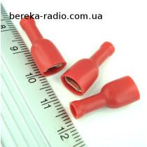 ST-010/R (клема гніздо 6.3 x 0.8mm, 0.5-1.0mm2, червона)