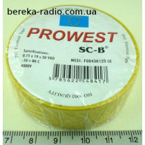 Ізострiчка PVC Prowest SC-B WE5413-1519 жовта