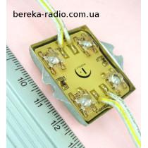 Світлодіодний модуль 112*4 оранжевий самоклеюч (4ш) 12V 40mA