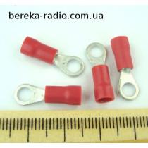 ST-081/R (клема очкова ізольована М4, 0.5-1.0mm2, червона)