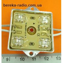 Світлодіодний модуль 112*4 зелений самокл. вологозах. 3.8x3.67x0.65sm, 12V, 40m