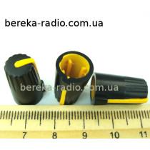 N-10 ручка на вісь 6мм жовта