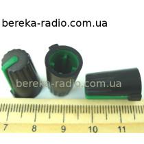 N-10 ручка на вісь 6мм зелена