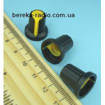 AG2 ручка чорна з жовтою вставкою