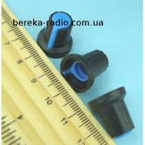 AG2 ручка чорна з синьою вставкою
