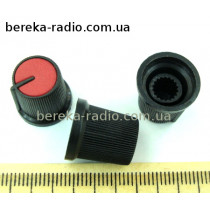 AG3 ручка чорна з червоною вставкою