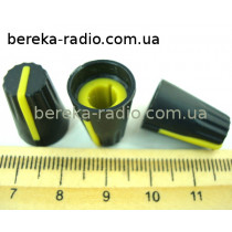 AG4 ручка чорна з жовтою вставкою