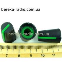 AG4 ручка чорна з зеленою вставкою