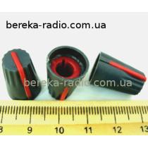 AG4 ручка чорна з червоною вставкою