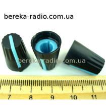 AG4 ручка чорна з синьою вставкою