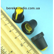 AG5 ручка чорна з жовтою вставкою