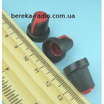 AG5 ручка чорна з червоною вставкою