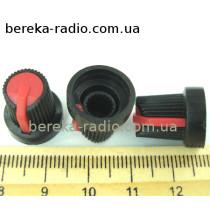 AG10 ручка чорна з червоною вставкою